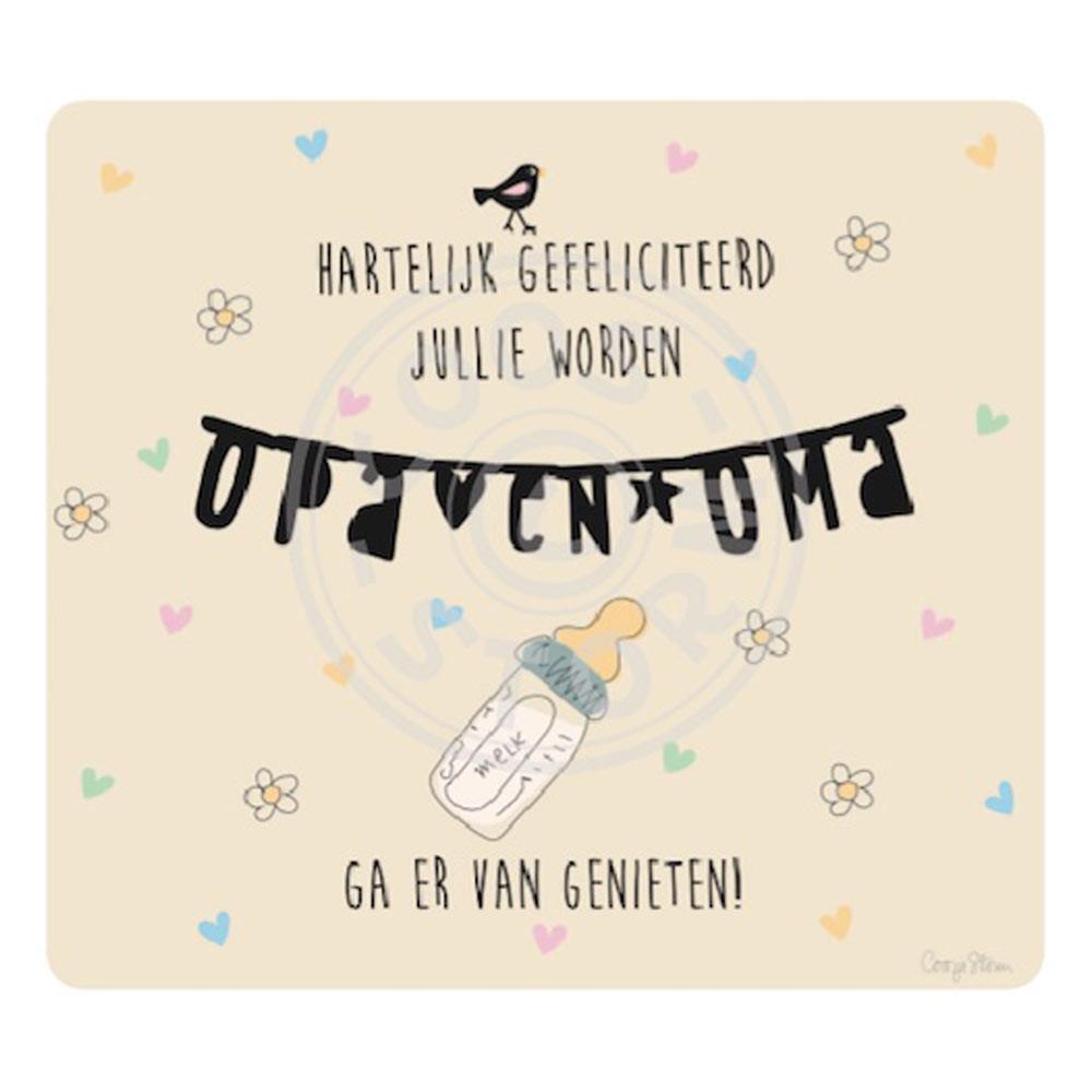 Verbazingwekkend Wenskaart 'Jullie worden Opa en Oma' door Coos Storm - Babycare.nl HB-05