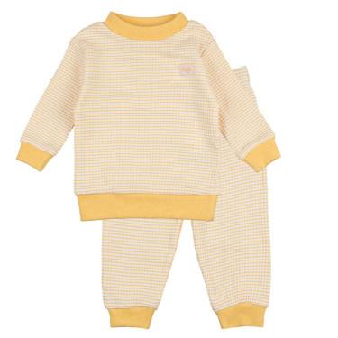Feetje Pyjama Wafel Okergeel