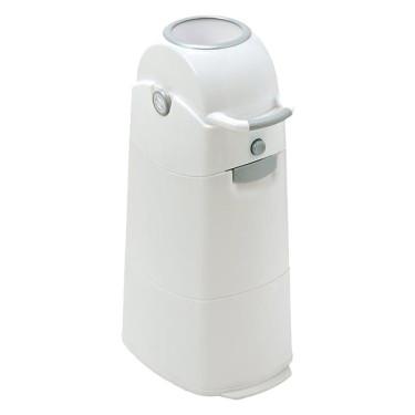Diaper Champ Medium Luieremmer Wit/Zilver