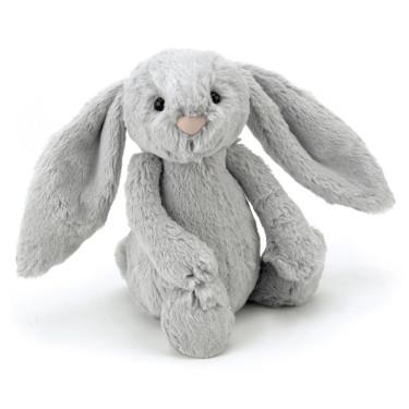 Jellycat Bashfull Bunny Zilver (31 cm)