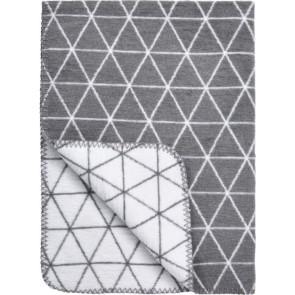 Meyco Ledikantdeken Triangle Grijs - Wit 120x150
