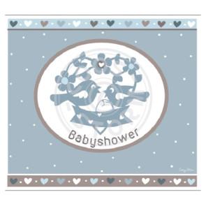 Wenskaart 'Babyshower' Blauw door Coos Storm