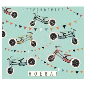 Wenskaart 'Hieperdepiep Hoera' door Coos Storm