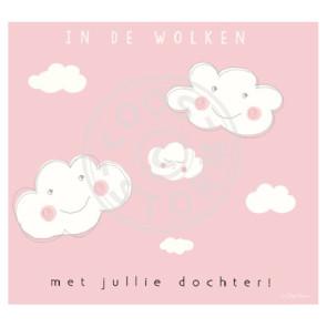 Wenskaart 'In de Wolken Dochter' door Coos Storm