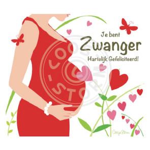 Wenskaart 'Je bent Zwanger - Gefeliciteerd' door Coos Storm