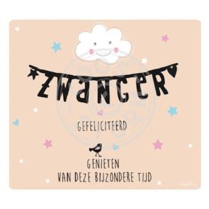 Wenskaart 'Zwanger - Gefeliciteerd'  door Coos Storm