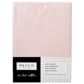 Meyco Jersey Hoeslaken Boxmatras Light Pink 75x95 cm