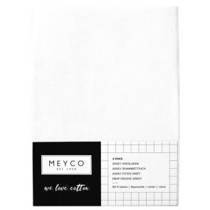 Meyco Jersey Hoeslaken 2-Pack White 60x120 cm