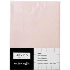Meyco Jersey Hoeslaken 2-Pack Light Pink 40x80/90 cm
