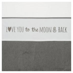 Meyco Wieglaken Love You to the Moon & Back Grey
