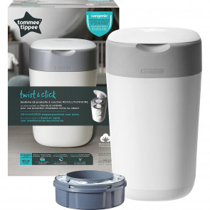 Tommee Tippee Sangenic Twist & Click Luieremmer White (incl. 1 navulling)