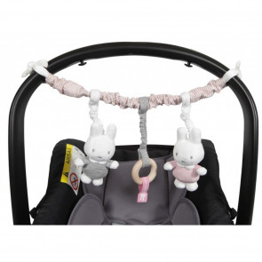Nijntje Autostoelspeeltje Pink Baby Rib