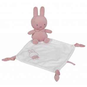 Nijntje Knuffeldoekje Pink Baby Rib