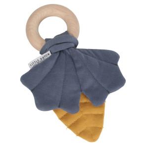 Little Dutch FSC Houten Ring Blaadje Geel/Blauw