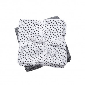 Done by Deer Wikkeldoek 2-pack Happy Dots Grey