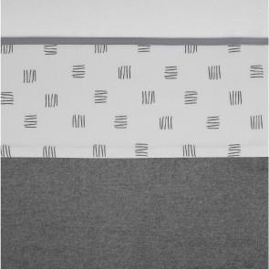 Meyco Wieglaken Block Stripe Grijs