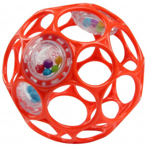 OBall Rattle Rood 10cm