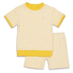 Feetje  Pyjama kort wafel Okergeel 56