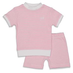 Feetje  Pyjama kort wafel Roze 62