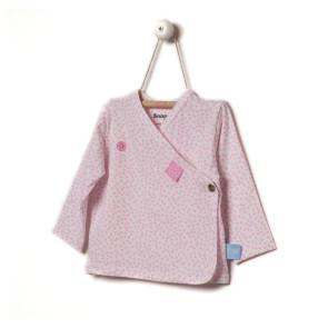 Snoozebaby Overslagshirt Pink Dot