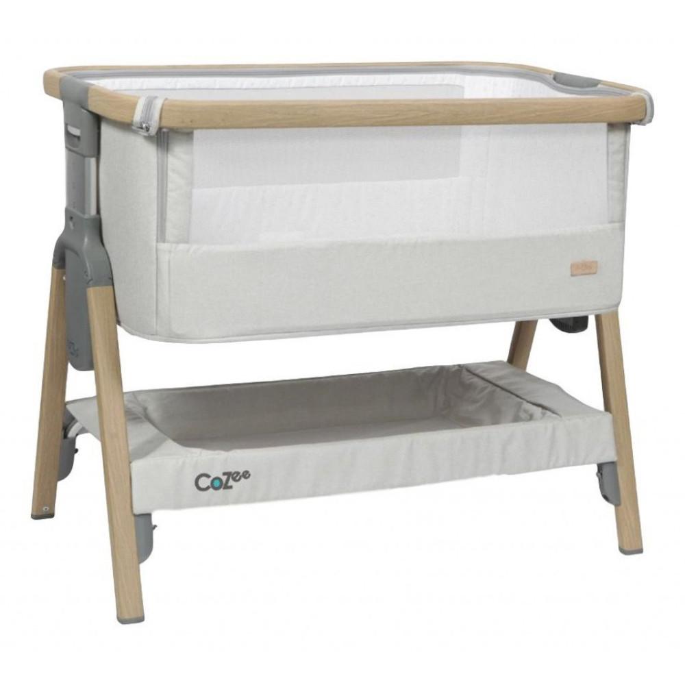 buy popular ee181 e17b5 Tutti bambini Cozee Bedside Crib Oak Silver