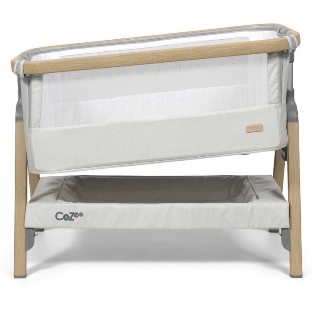 Tutti Bambini Cozee Bedside Crib Oak Silver Babycare Nl