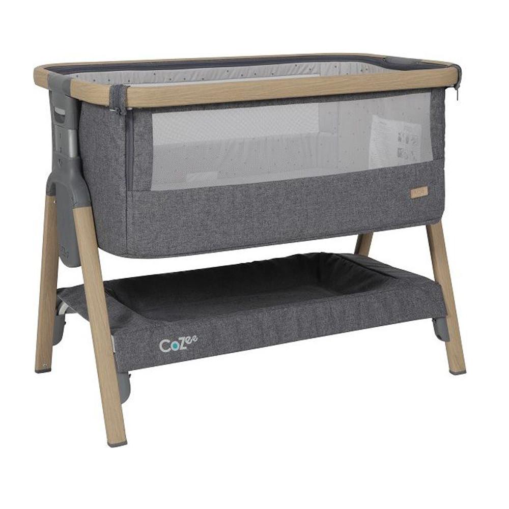 Tutti Bambini Cozee Bedside Wieg Oak Charcoal Babycare