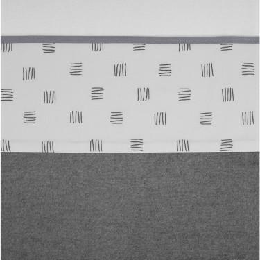 Meyco Crib Sheet Block Stripe Grey