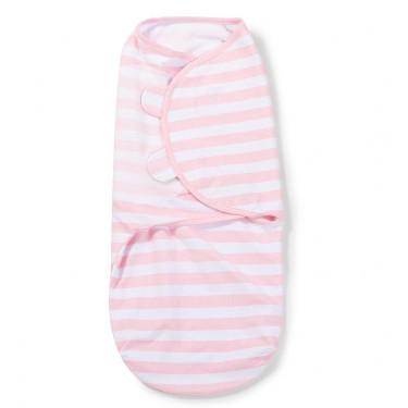 Swaddle Me Pink/White Stripe Large 4-6 Months