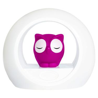 Zazu Night Light Owl Pink