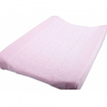 Baby's Only Changing Pad Cover Cable Uni Baby Pink