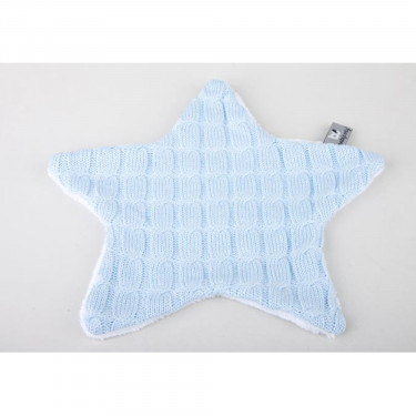 Baby's Only Cuddle Cloth Cable Teddy Star Blue