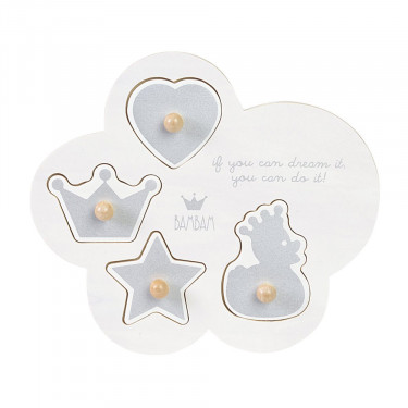 BAMBAM Wooden Puzzle Crown Duck Star Heart
