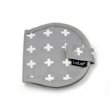 KipKep Napper Breast Pads Pouch Crossy Grey