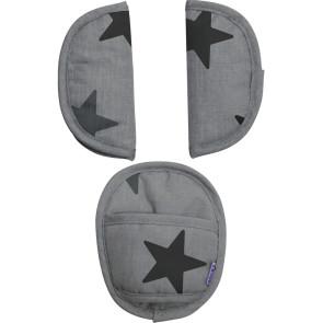 Dooky Universal Pads Grey Stars