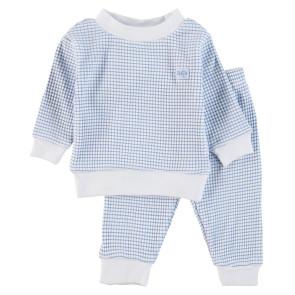Feetje Childrens Pyjamas Waffle Blue