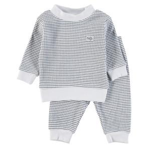 Feetje Childrens Pyjamas Waffle Navy