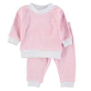 Feetje Childrens Pyjamas Waffle Pink