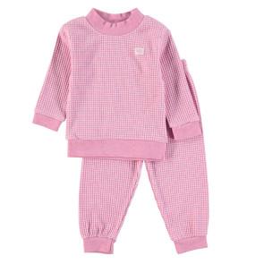 Feetje Childrens Pyjamas Waffle Pink Melange