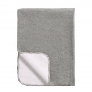 Meyco Cot Blanket Double Face Grey - White 100x150