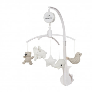 Baby's Only Musical Mobile Sand/Woolwhite/White