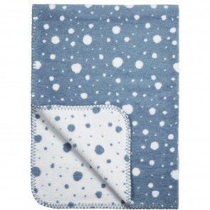 Meyco Cot Blanket Dots Jeans - White 120x150cm