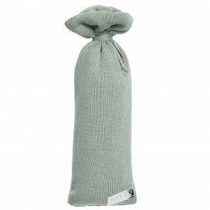 Meyco Hot Water Bottle Bag Knit Basic Stone Green Ø13 x h35 cm