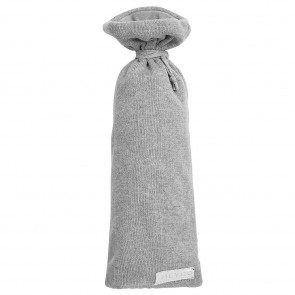 Meyco Hot Water Bottle Bag Knit Basic Grey Melange Ø13 x h35 cm