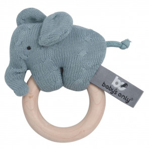 Baby's Only Houten Rattle Elephant Stonegreen