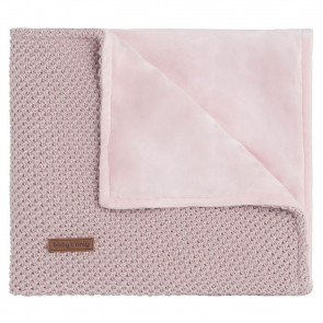 Baby's Only Baby crib blanket soft Sparkle silver-pink melange