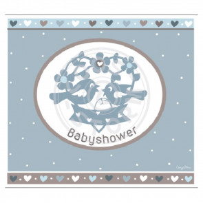 Greeting Card 'Babyshower' Blauw by Coos Storm