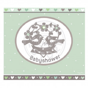Greeting Card 'Babyshower' Groen by Coos Storm