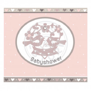 Greeting Card 'Babyshower' Roze by Coos Storm