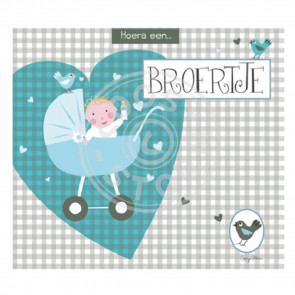 Greeting Card 'Hoera een Broertje' by Coos Storm